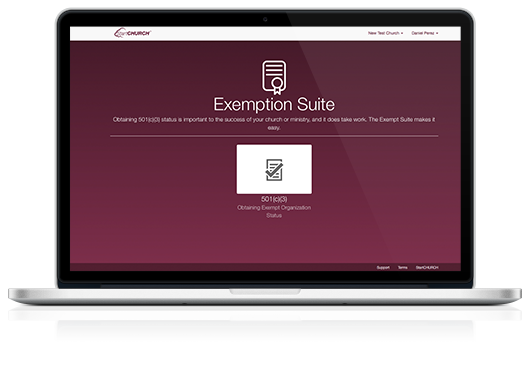 Exemption Suite™ on a Macbook