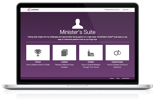 Minister's Suite™ on a Macbook